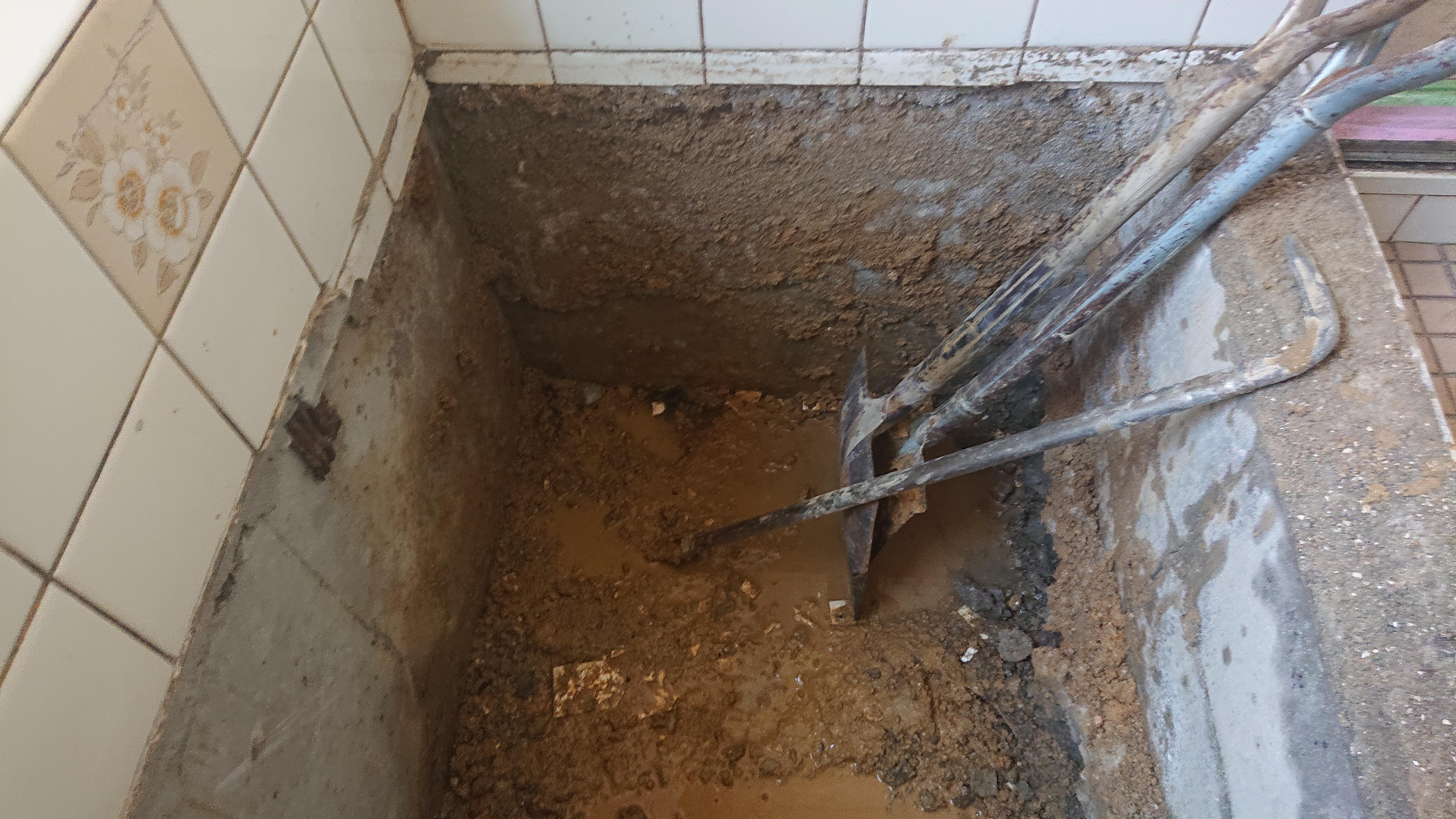 浴槽撤去完了